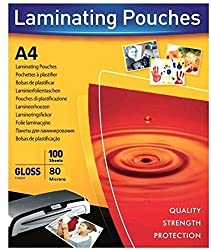 A4 Lamination Sheets Pouch 80 micron, 225x310mm, for Hot Laminator