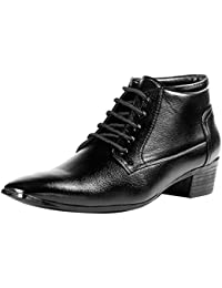 Bxxy Black Height Increasing Formal Boots for Men