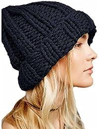 2019 Nuovo Le Donne mantengono Caldo i Cappelli delle Cuffie di Lana  lavorate a Maglia By 6dea5e605ec4