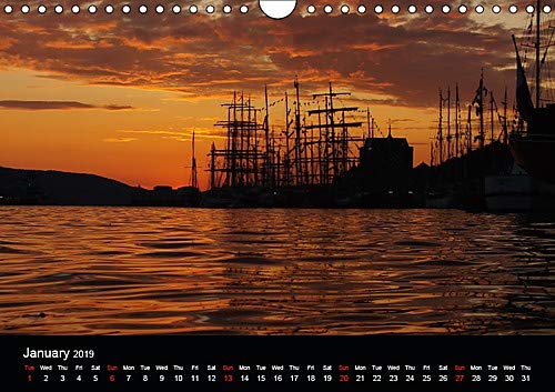 Tall ships at Bergen (Wall Calendar 2019 DIN A4 Landscape): Tall ships race event in Bergen, Norway (Monthly calendar, 14 pages )