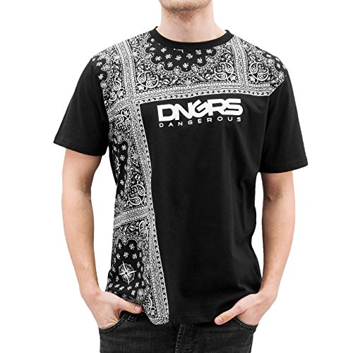 Dangerous DNGRS Uomo Maglieria/T-Shirt Linköping Nero