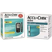 Preisvergleich für Accu Chek Pro - Accu Chek Glucometer mit Active Strips - 160 Strips - (Multicolor)