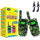 Walkie Talkie Bambini, 8 Canali PMR446 MHz 0.5 W Display LCD VOX Funzione con Torcia 4KM, Regalo di Compleanno Giocattoli Per Ragazzi