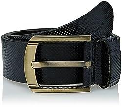 Peter England Mens Leather Belt (8907495896083_RL31791454_X-Large_Black)
