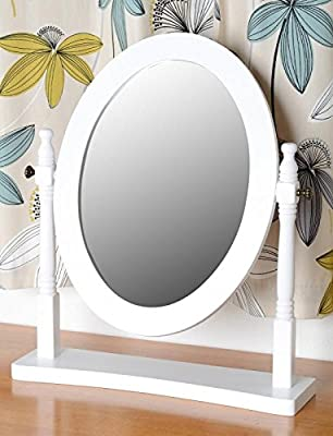 Contessa Dressing Table Mirror in White by Seconique