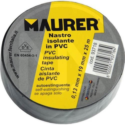 TAPE PVC GRAU 25 mt. 19 mm. Conf. 10 PZ.