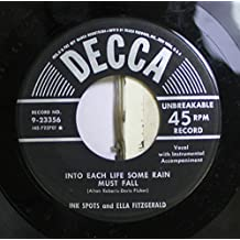 Ink spots and ela fitzgerald 45 RPM Into each life some rain / I'm making believe
