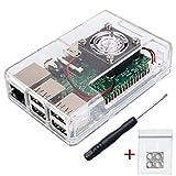 Electronic Alps Techniker Gehäuse SET für Raspberry Pi 3 mit Lüfter, Videokurs und Gummifüßen | auch für Raspberry Pi 2 Modell B (Transparent Weiß)