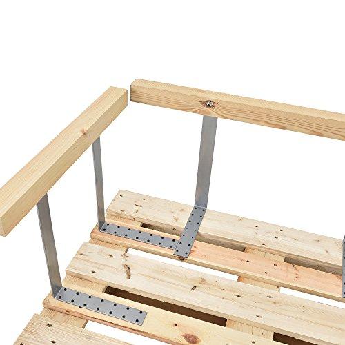 [en.casa] Palettensofa - 3-Sitzer mit Kissen - (weiß) komplettes Set inkl. Arm- und Rückenlehne - 4