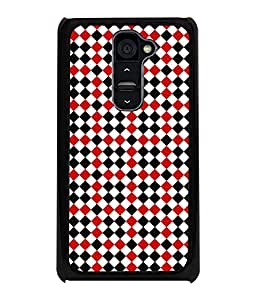 Fuson Premium Lets Play Chess Metal Printed with Hard Plastic Back Case Cover for LG G2