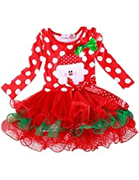 c7808d47eaa85 HUI Petite Princesse Dots Nouvel an Noël Belle Robe 1-6 Ans Fille VêTements