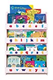 Tidy Books - The Children's Bookcase Company - The Original Childrens Bookcase and Book Display with 3D Alphabet in Pink Lowercase