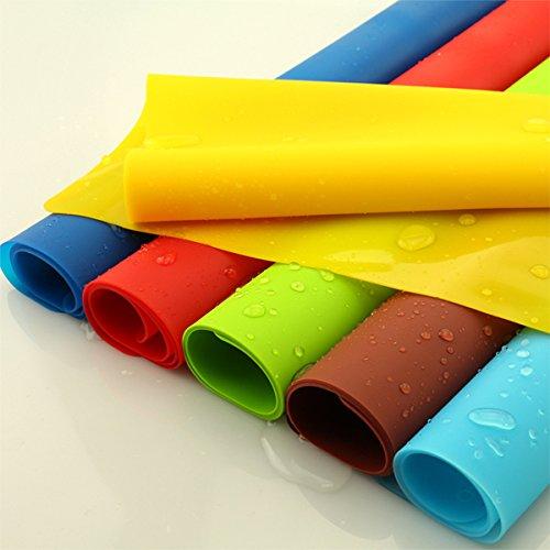 Aliciashouse 56.5X40CM colorido del resbalón de silicona resistente al calor Mantel-marrón Hornear...