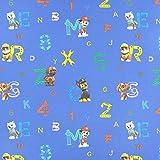 Fabulous Fabrics Cretonne Paw Patrol Hundeleben 3 – blau — Meterware ab 0,5m — zum Nähen von Vorhängen und Kinderartikeln