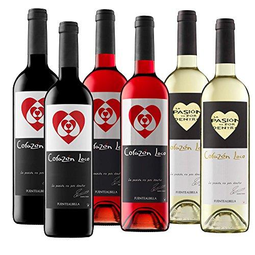 Corazon Loco Tinto, Blanco, Rosado (6 Flaschen) (Corazon De)