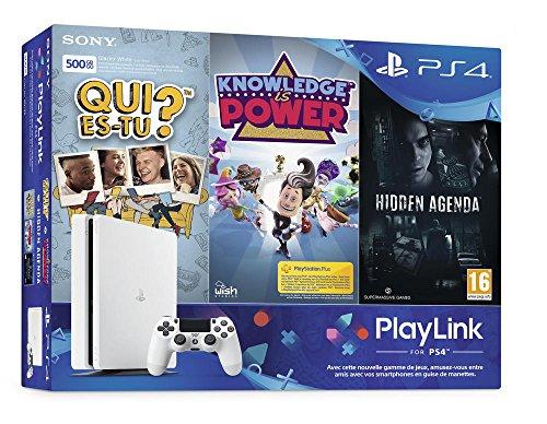 PS4 500 Go Blanche + Qui es-tu ? + Knowledge Is Power + Hidden Agenda