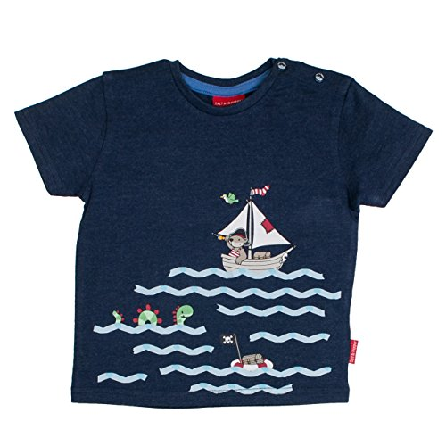 SALT AND PEPPER Baby-Jungen B T-Shirt Pirat Uni Print, Blau (Ink Blue Melange 481), 74