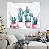 mmzki Arazzo Telo Mare Fiore di Albero di Cactus Nordico 22 150x100cm
