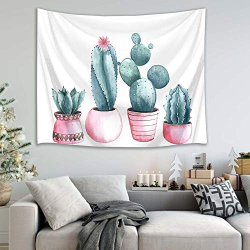 mmzki Nordic Kaktusbaum Blume Strandtuch Tapisserie 22 150x100cm