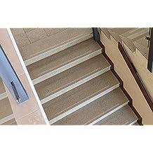 15 piezas de tiras antideslizantes para escaleras, negro, 100 cm de largo y 5 cm de ancho
