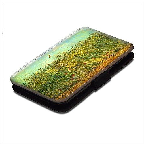 van-gogh-wheat-field-with-a-lark-nero-portafoglio-magnetico-flip-custodia-protettiva-in-pelle-wallet