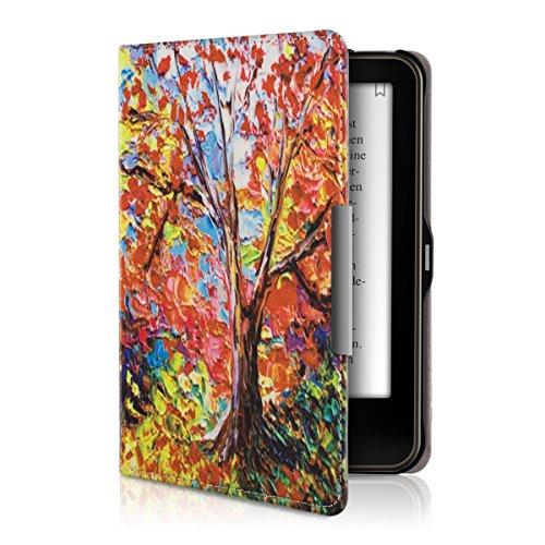 kwmobile Cover compatibile con Tolino Vision 1 / 2 / 3 / 4 HD - Custodia a libro in pelle PU - Flip Case per eReader