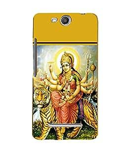 Maa Durga 3D Hard Polycarbonate Designer Back Case Cover for Micromax Bolt Q338
