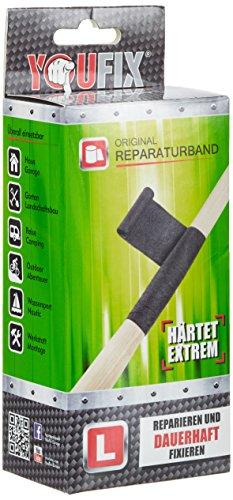 FiberFix Uni Reparaturband Klebeband, Schwarz, M -