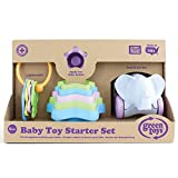 Green Toys Set Inicial de Juguetes de Bebe (Primeras Llaves, Tazas para Apilar y Elefante), (BTS1-1236)