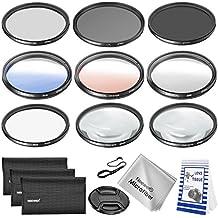 Neewer Kit filtro y accesorios de lente 67MM para Nikon D7000 D5100 D90 D60 D70 D40 DSLRs. incluye:filtro UV CPL ND4 Macro Close-up (+ 4 + 10) Filtros graduado de Color filtro estrella de 6 puntos