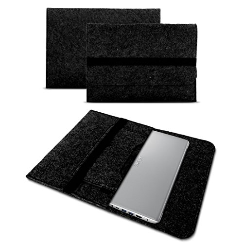 Acer TravelMate Spin B1 Tasche Hülle Filz Case Sleeve Schutz Cover Schutzhülle , Farbe:Dunkel Grau