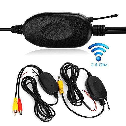 Dynavision 2.4GHz Wireless Video Rückfahrkamera RCA Video Sender Empfänger Kit für Auto Rückfahrkamera Monitor Empfänger Cam DVD GPS Autoradio Player Modul Adapte Trigger (Drahtlos B)