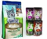 Topping - Nassfutter 4x85gr. Leonardo Cat Food + Happy Cat Minkas Mix Geflügel, Lamm & Fisch 10 kg