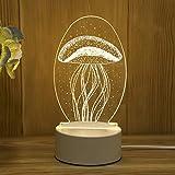 3D stéréo lumière de Nuit Plug-in créatif Dessin animé Mini Lampe de Table...