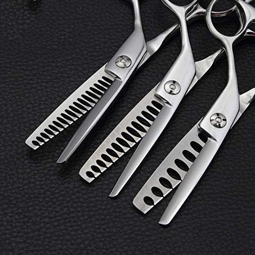 Sakuldes 6-Zoll-Profi-Haarschneidemaschine, um eine große Menge an Fischknochen zu schneiden, Haare schneiden, Friseurscheren ohne Schere (Edition : 7 Teeth)