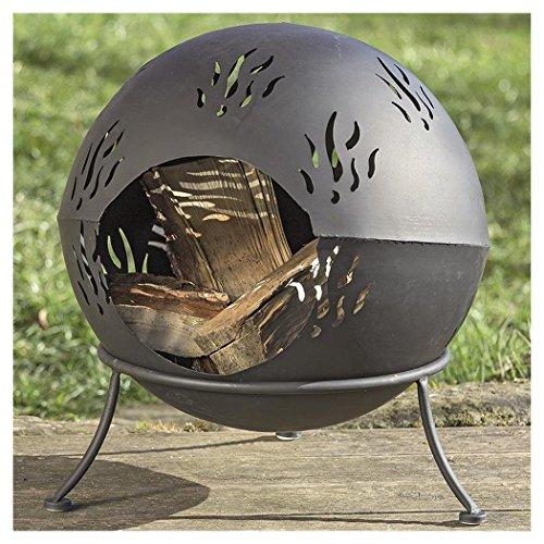 Boltze Feuerkorb 'Nero' aus Eisen Schwarz