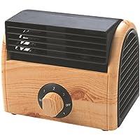 NWYJR Fan Cooling Fan Ajustable De 3 Velocidades Mini Wood Table Fanless Sin Hojas Fan Air Circulator,Natural