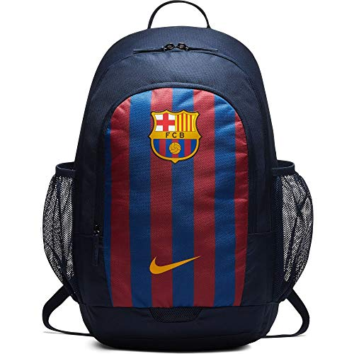 Nike Stadium FC Barcelona Rucksack, Obsidian/Deep Royal Blue/University Gold, 51 x 30.5 x 15 cm, 24 Liter
