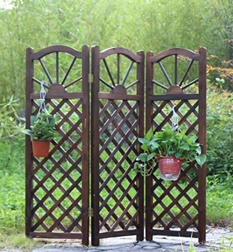 HUNYUAN-LF Massivholz-Cut Off Faltbare Gitter Bildschirm Wand Blumentöpfe im Freien Blumen Racks Ausstellungsstand (Color : A)