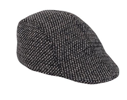 Krystle Boy'S Classy Suede Golf Cap For Boys - Black
