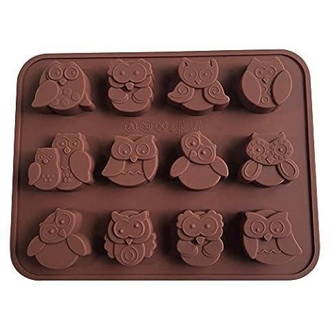 12Eulen Küche Zubehör Silikon Kuchen Dekoration Form Candy Cookies Schokolade Seife Form zum Backen Werkzeug