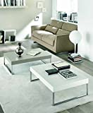 Zamagna – Couchtisch Jet C1030 – Finish: lackiert grau Taupe RAL 7044
