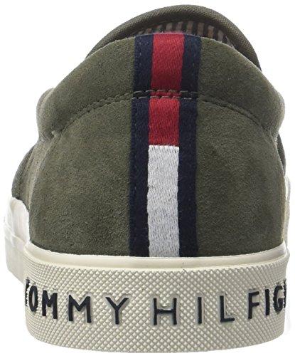 Tommy Hilfiger Baskets En Daim Heritage Sur Sneaker, Baskets Basses Pour Hommes (dusty Olive 011)