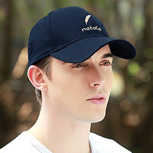FQG*Cappelli uomini cappello da baseball maschio invernale di cotone puro cotone cappelli marea traspirante polpette di sport outdoor solar , ciano scuro