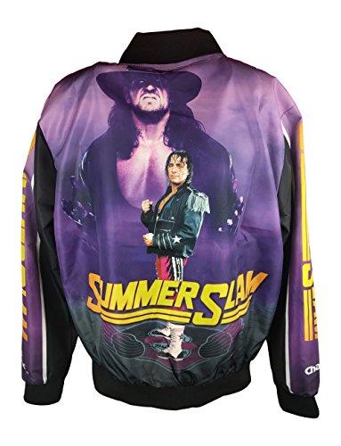 Summerslam 1997 Retro Bret Hart Undertaker WWE Legends Fanimation Chalkline Jacket