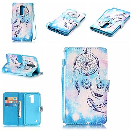 Chreey Coque LG K7 / LG K8 / LG Tribute 5 (5 pouces),PU Cuir Portefeuille Etui Housse Case Cover ,carte de crédit Fentes pour ,idéal pour protéger votre téléphone