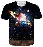 Idgreatim Idgretim Frauen Männer Universum Sternenhimmel 3D Gedruckt Mode Top T-Shirt
