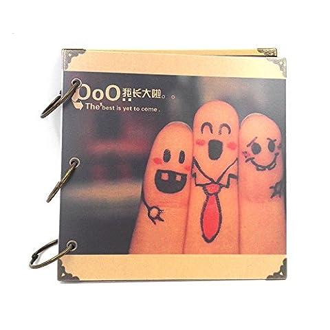 Galerie de photos 8 pouces Carré Fer Ring Stickers DIY Handmade Albums Album Rétro album Creative a grimpé 18.5X18.5CM1PCS