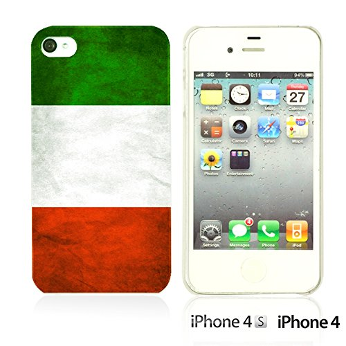 OBiDi - Flag Pattern Hard Back Case / Housse pour Apple iPhone 4S / Apple iPhone 4 - Germany Italy