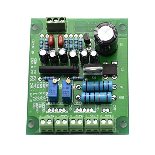 Peanutato Amplificatore Scheda Driver Stereo Doppio VU VU Db Livello Audio Ingresso 12V retroilluminato